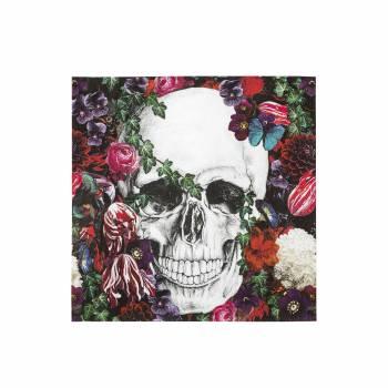 20 Serviettes squelette baroque