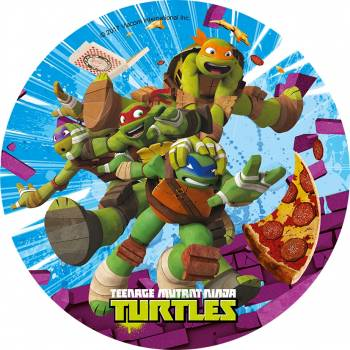 Disque comestible Tortues Ninja Pizza