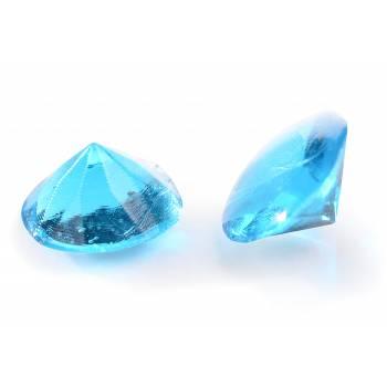20 Diamant en sucre gélifiés bleu