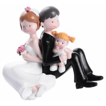 Figurine Mariés avec fillette