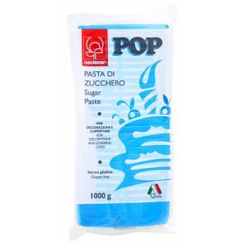 Pâte à sucre bleu cyan POP 1kg