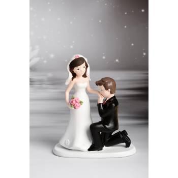 Figurine mariés Baise main