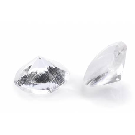 20 Diamants en sucre gélifiés pour décorer vos gâteaux et leur donner un côté haut de gamme Couleur transparent