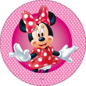 Disque azyme Minnie pois rose