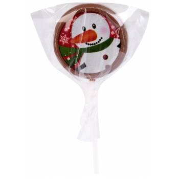 Sucette de Noël en chocolat