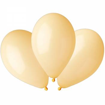 100 Ballons pastel jaune Ø30cm