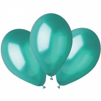 100 Ballons métallisés vert Ø30cm