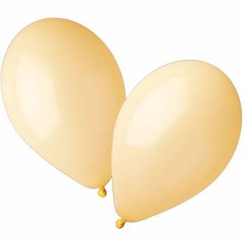 50 Ballons pastel jaune Ø30cm