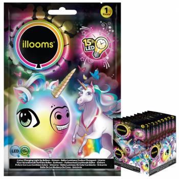1 Ballon lumineux licorne