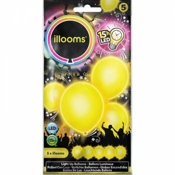 5 Ballons lumineux jaune
