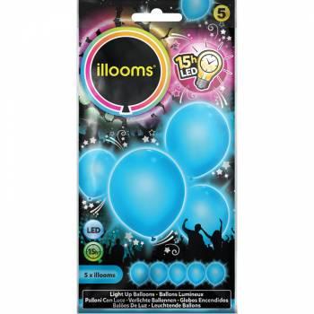 5 Ballons lumineux bleu