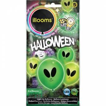 5 Ballons lumineux aliens