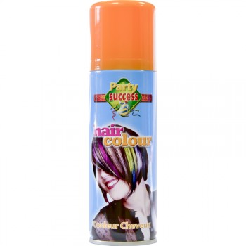 Laque cheveux orange