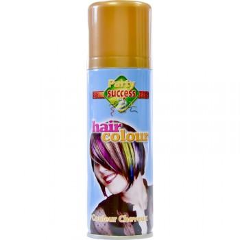 Laque cheveux or
