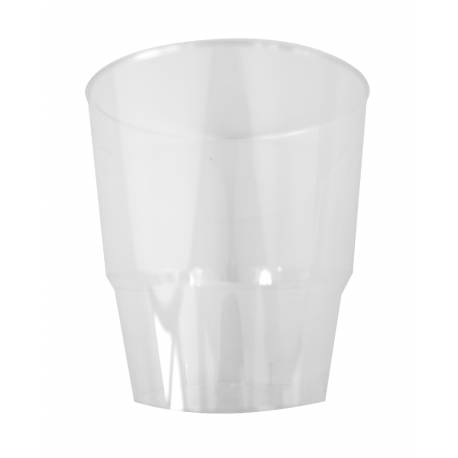 Lot de 10 gobelets en plastique cristal transparent 25 cl
