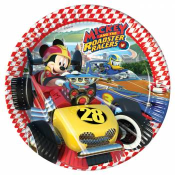 8 Assiettes Mickey roadster racers