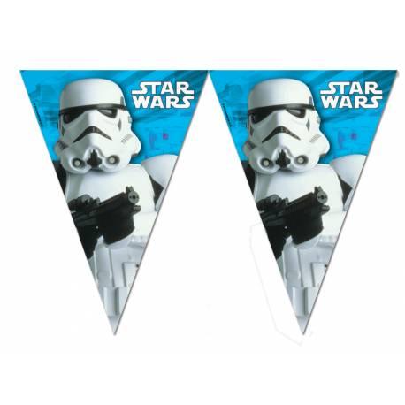 Guirlande fanions thème Star Wars final battle pour la déco anniversaire de votre enfant.