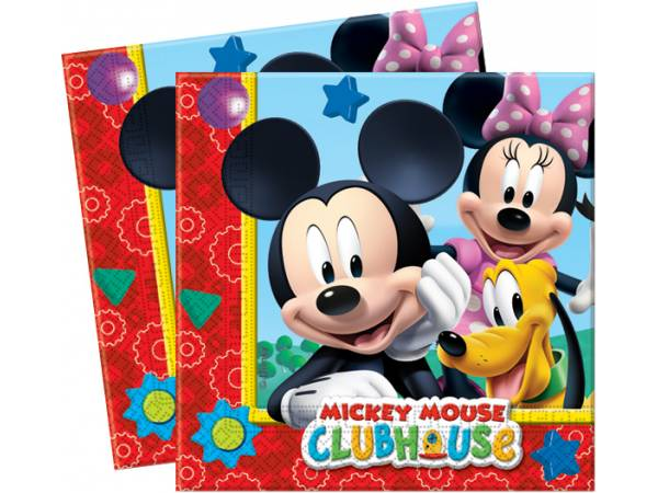 serviettes mickey pour la deco de table d 39 anniversaire. Black Bedroom Furniture Sets. Home Design Ideas