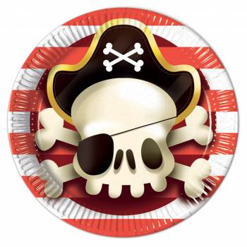 8 Assiettes Pirate powerful