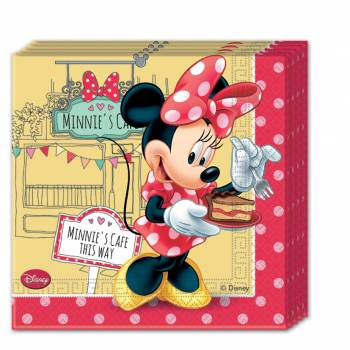 20 Serviettes Minnie cupcake