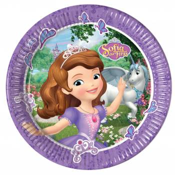 8 Assiettes Princesse Sofia Mystic