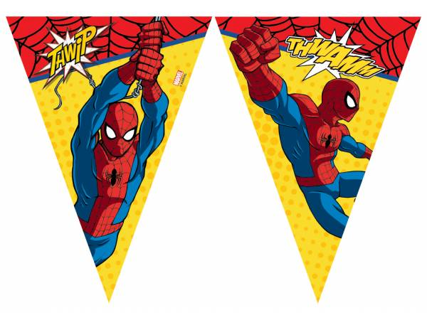 Guirlande fanions spiderman power deco anniversaire - Deco anniversaire spiderman ...