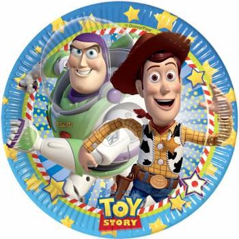 8 Assiettes Toy Story star