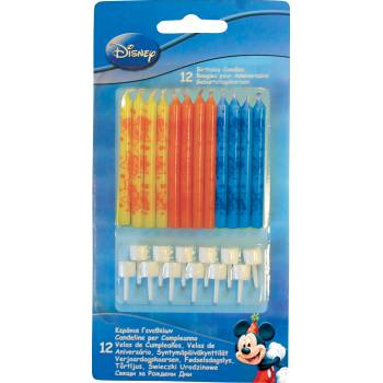 Lot 12 Bougies Mickey Mouse