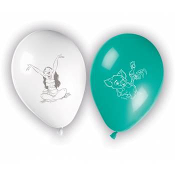 8 Ballons latex Vaiana