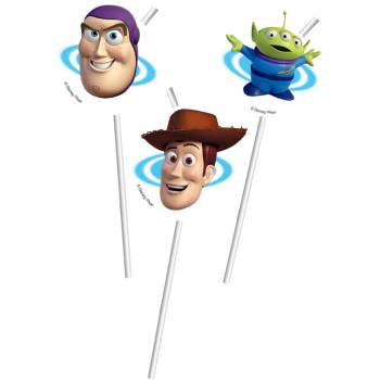6 Pailles Toy Story star