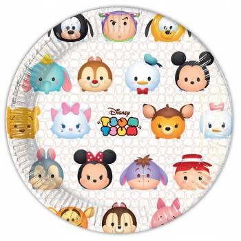 8 Assiettes Disney Tsum Tsum