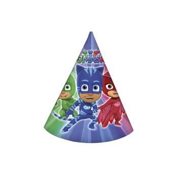 6 Chapeaux de fête Pyjamasques
