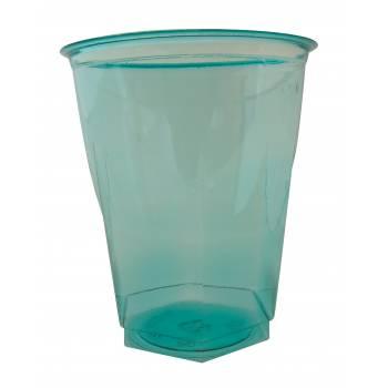 10 Gobelets cristal turquoise