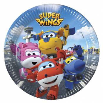 8 Assiettes à dessert Super Wings