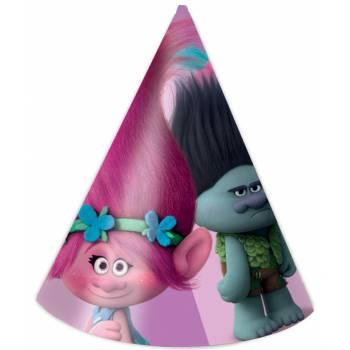 6 Chapeaux de fête Trolls