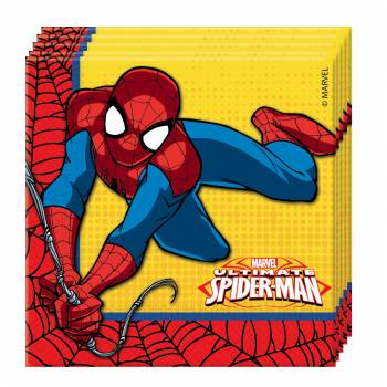 Serviettes spiderman power deco anniversaire - Deco anniversaire spiderman ...