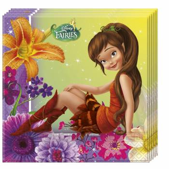 20 Serviettes Fée Clochette Fairies