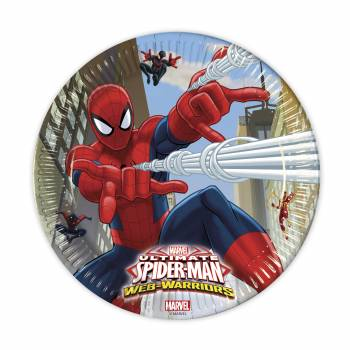 8 Assiettes Spiderman web warriors