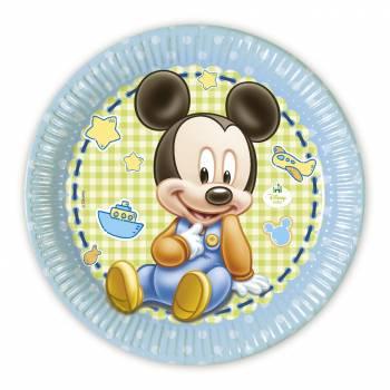 Assiettes Mickey bébé - Deco Anniversaire.fr
