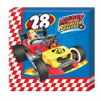 20 Serviettes Mickey roadster racers