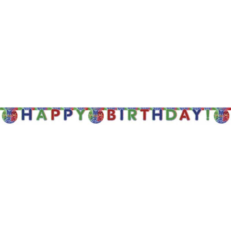Banderole Happy Birthday Pyjamasques