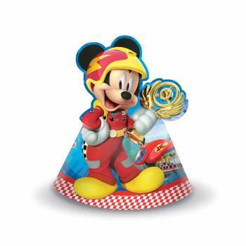 6 Chapeaux de fête Mickey roadster racers