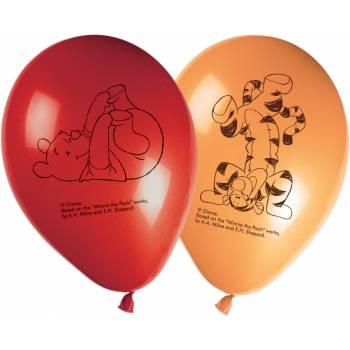 8 Ballons anniversaire winnie alphabet