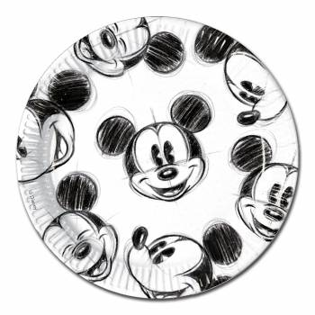 25 assiettes Mickey Croquis