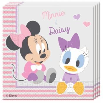 20 serviettes Baby Minnie & daisy