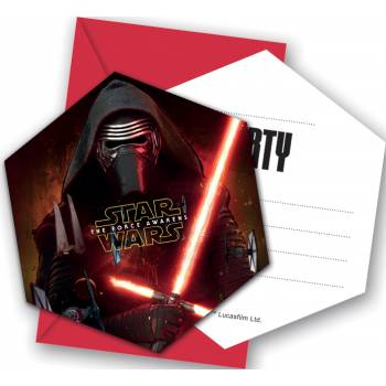 6 Cartes d'invitation Star Wars VII