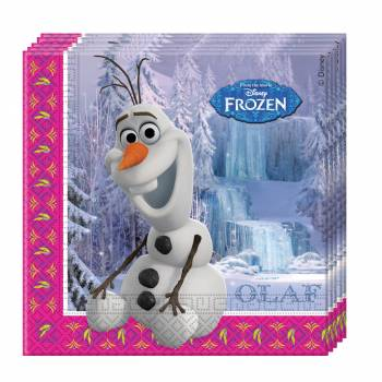 20 Serviettes Reine des Neiges Disney