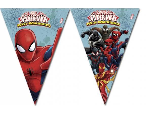 Guirlande Fanions Spiderman Web Warriors Deco Anniversaire
