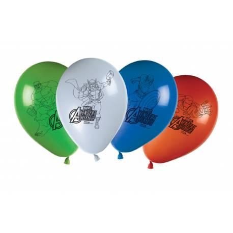 8 Ballons latex thème Avengers pour la deco anniversaire de votre enfant.