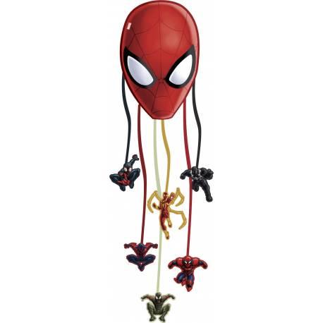 Pinata a fils a remplir de bonbons et petits jouets Spiderman web warriors. Une seule ficelle ouvre la pinata! Qui sera le...